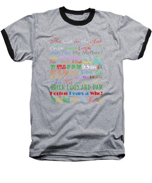 Dr Seuss Books 1 Baseball T-Shirt