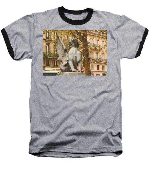 Dragon On The Boulevard  Baseball T-Shirt