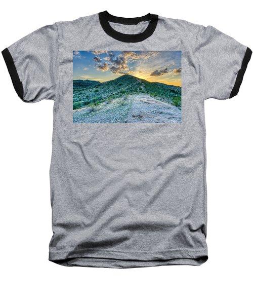 Dramatic Mountain Sunset Baseball T-Shirt