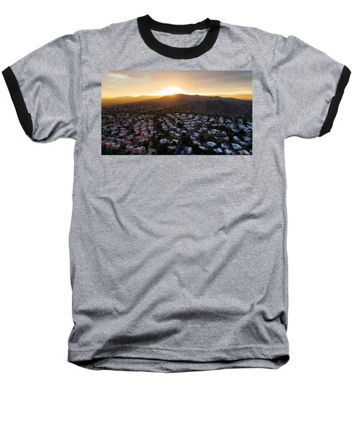 Dramatic South Mountain Sunset Baseball T-Shirt