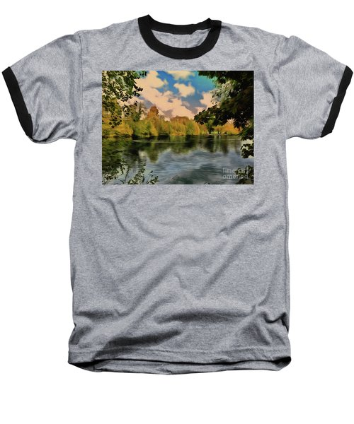 Baseball T-Shirt featuring the photograph Drawn To Water by Leigh Kemp