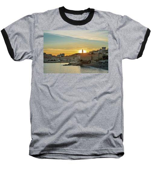 Dubrovnik Old Town At Sunset Baseball T-Shirt