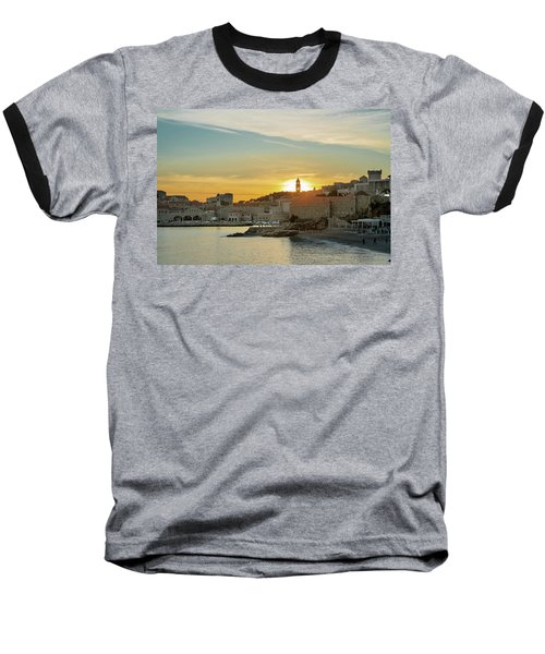 Dubrovnik Old Town At Sunset Baseball T-Shirt
