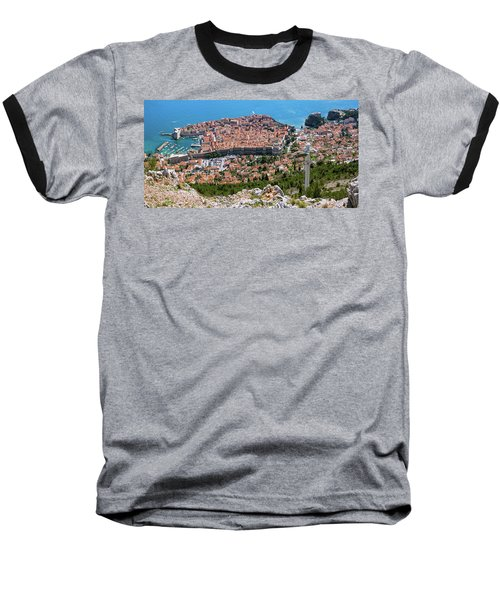 Dubrovnik Panorama From The Hill Baseball T-Shirt