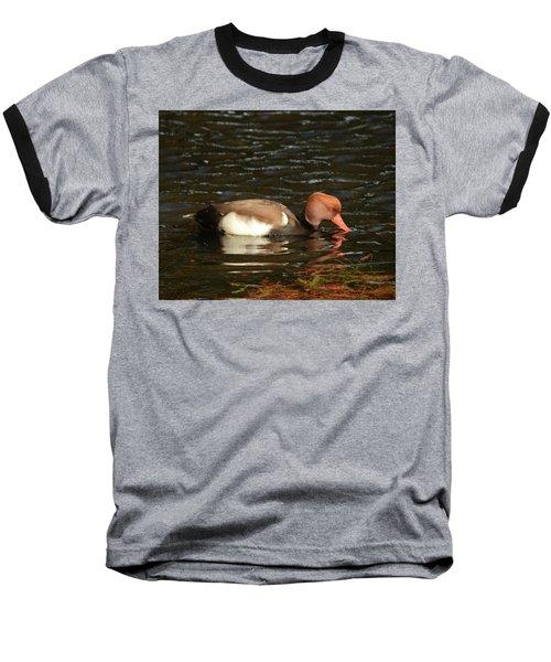 Duck On Water Baseball T-Shirt