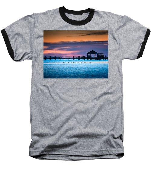 Duck Sunset - Outer Banks North Carolina Baseball T-Shirt
