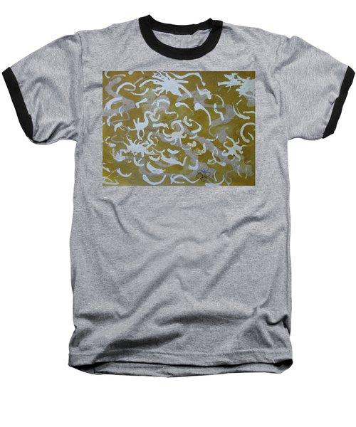 Dull Yellow With Masking Fluid Baseball T-Shirt