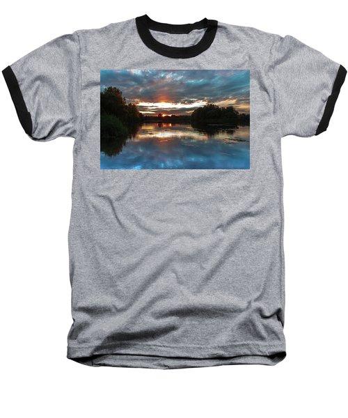 Dusk Aquarelle Baseball T-Shirt