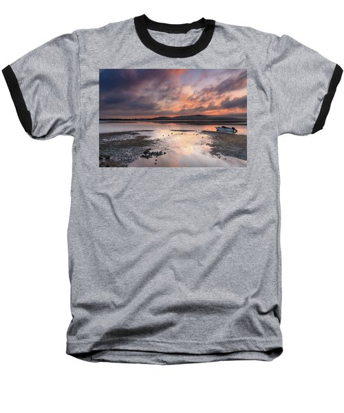 Dusky Pink Sunrise Bay Waterscape Baseball T-Shirt