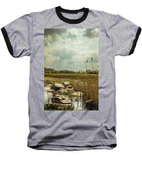 Baseball T-Shirt featuring the photograph Dutch Landscape. by Anjo Ten Kate