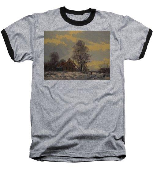 Dutch Snow Landscape Baseball T-Shirt