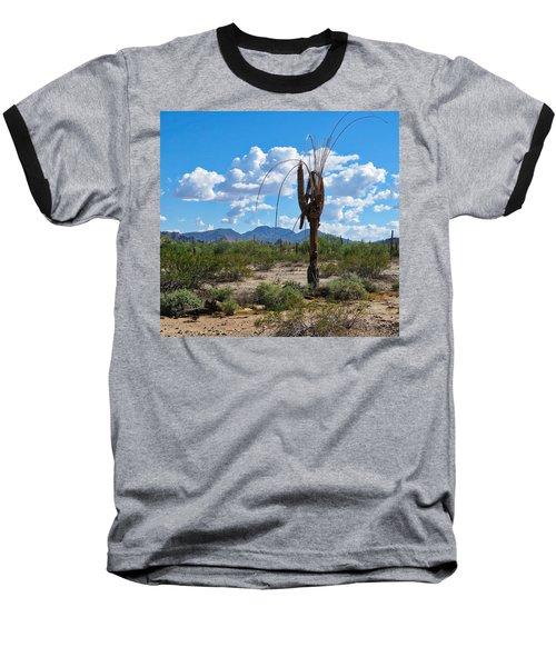 Dying Saguaro In The Desert Baseball T-Shirt