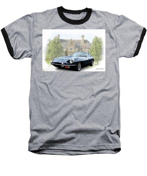 E Type Jaguar At Country House Baseball T-Shirt