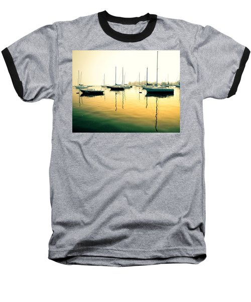 Early Mornings At The Harbour Baseball T-Shirt