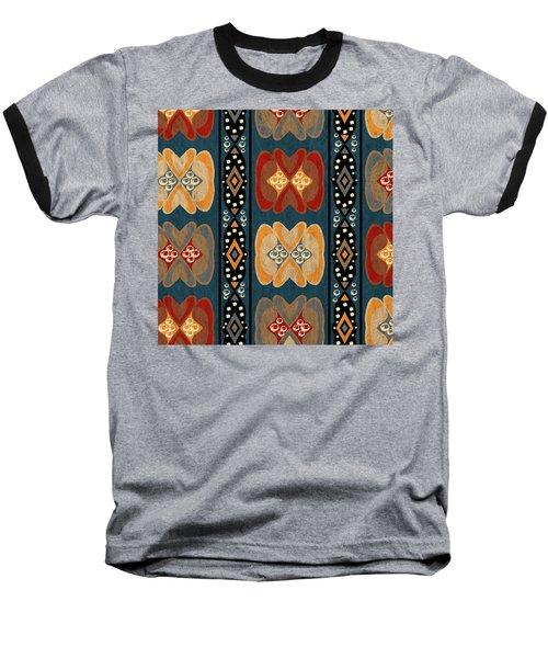 East African Heart And Diamond Stripe Pattern Baseball T-Shirt