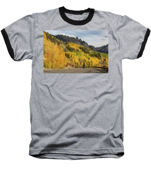 Baseball T-Shirt featuring the photograph Easy Autumn Rider by James BO Insogna