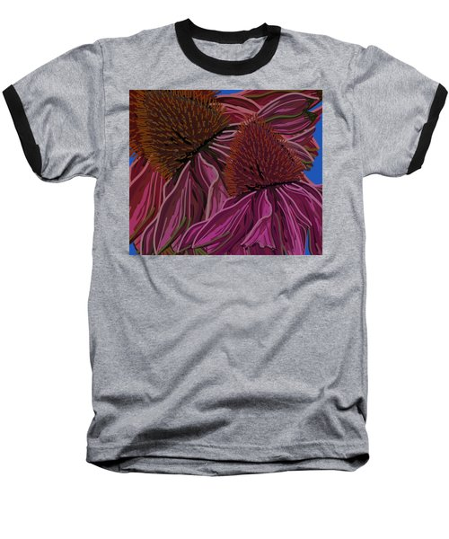 Echinacea Flower Blues Baseball T-Shirt