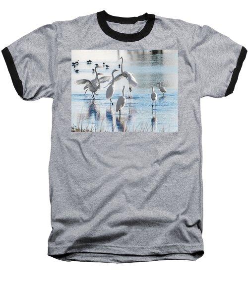 Egret Ballet 1400 Baseball T-Shirt