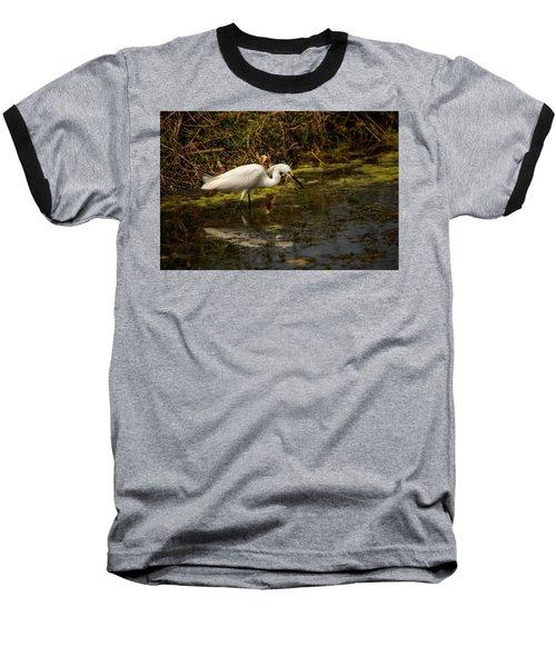 Egret Hunts Baseball T-Shirt