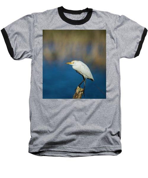 Egret On A Stick Baseball T-Shirt