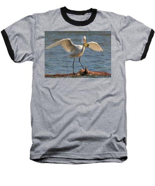 Egret  Baseball T-Shirt