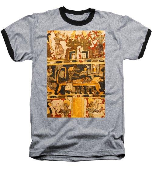 Egyptian Wall Art Baseball T-Shirt