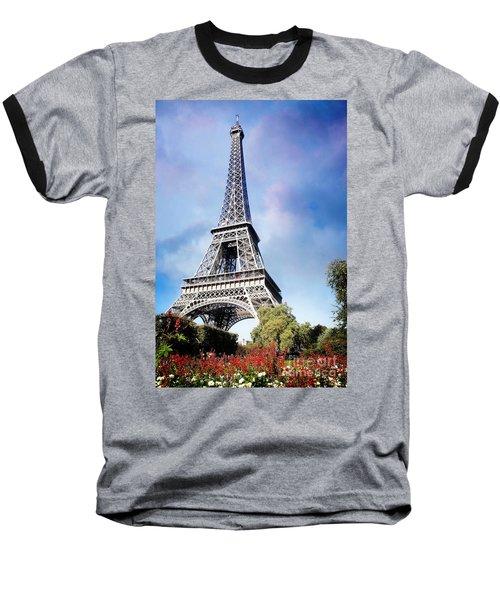 Eiffel Garden Baseball T-Shirt