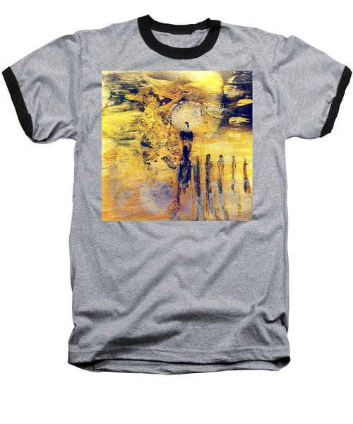 Baseball T-Shirt featuring the painting Elaine by 'REA' Gallery