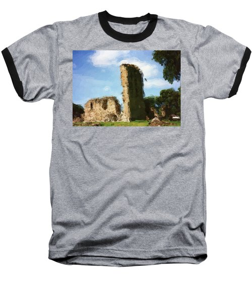 Elgin Cathedral Ruins Painting Baseball T-Shirt