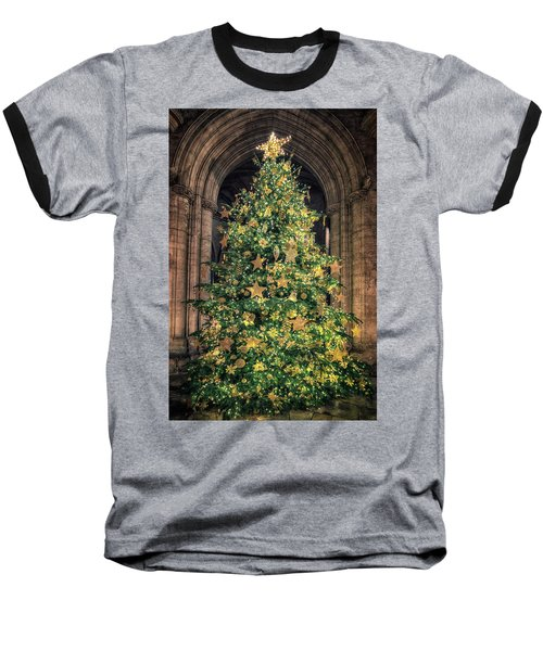 Ely Cathedral Christmas Tree 2018 Baseball T-Shirt