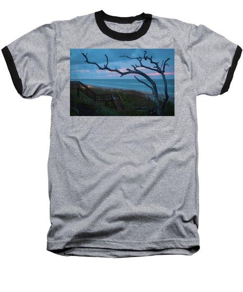 Emerald Isle Obx - Blue Hour - North Carolina Summer Beach Baseball T-Shirt