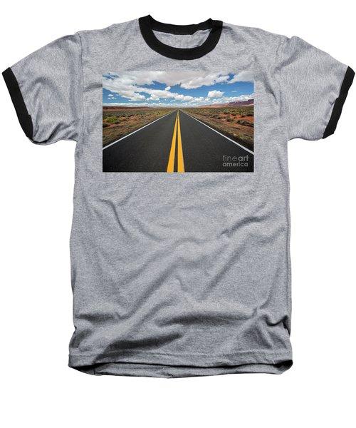 Empty Highway Baseball T-Shirt