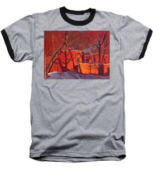 Evening Shadows On A Round Taos House Baseball T-Shirt