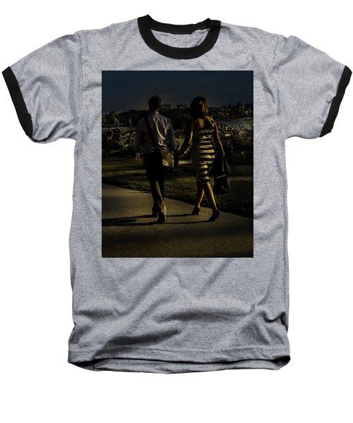 Evening Walk Baseball T-Shirt