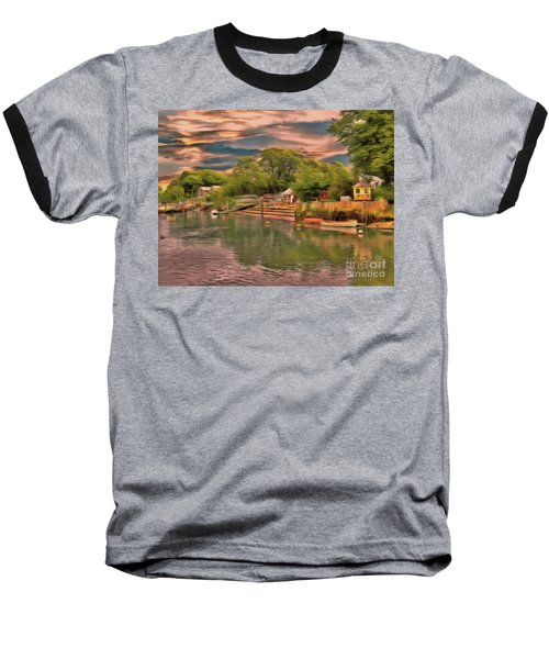 Baseball T-Shirt featuring the photograph Everything That I Love About The River by Leigh Kemp