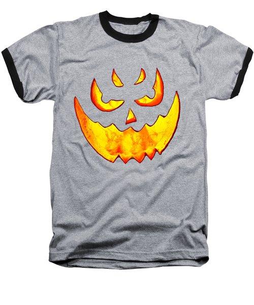 Evil Glowing Pumpkin Baseball T-Shirt
