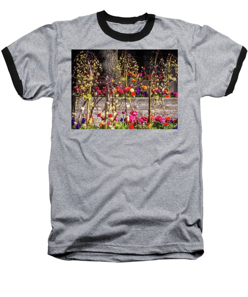 Explosion Of Color Baseball T-Shirt