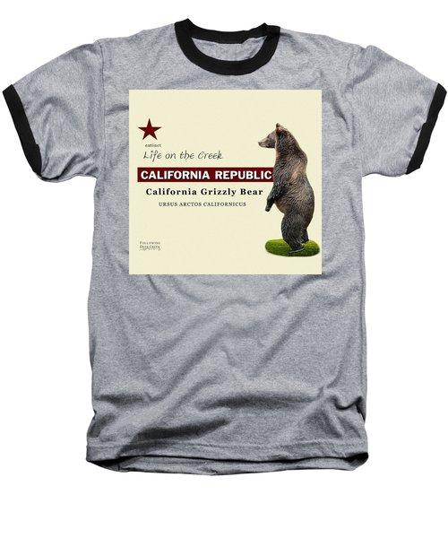 Extinct California Grizzly Bear Baseball T-Shirt