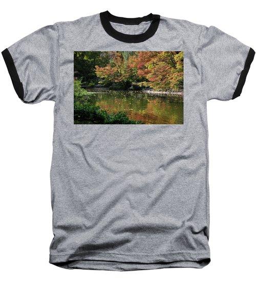 Fall At The Japanese Garden Baseball T-Shirt