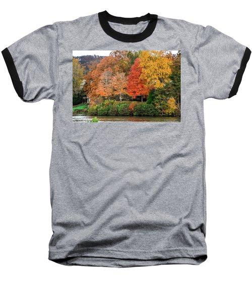 Fall At The Lake Baseball T-Shirt