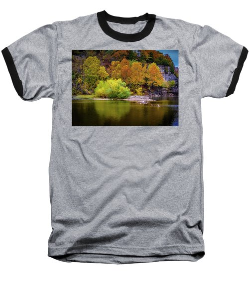 Fall Colors Of The Ozarks Baseball T-Shirt