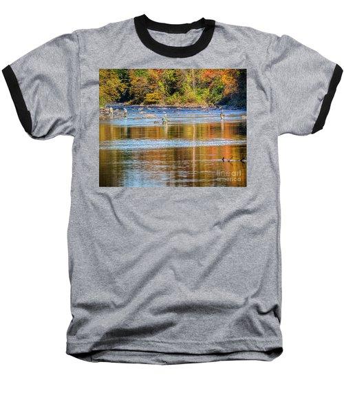 Fall Fishing Reflections Baseball T-Shirt
