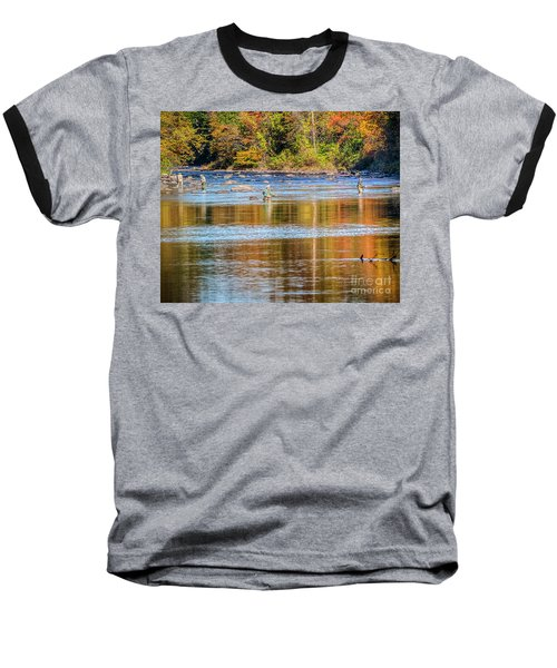 Fall Fishing Reflections Baseball T-Shirt