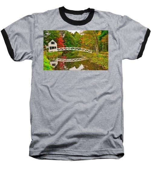 Fall Footbridge Reflection Baseball T-Shirt