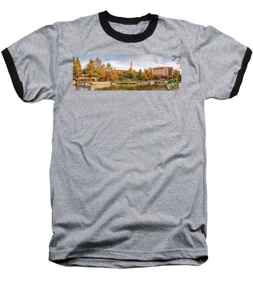 Fall Panorama Of Pearl Brewery, Hotel Emma, And San Antonio Riverwalk - Bexas County Texas Baseball T-Shirt