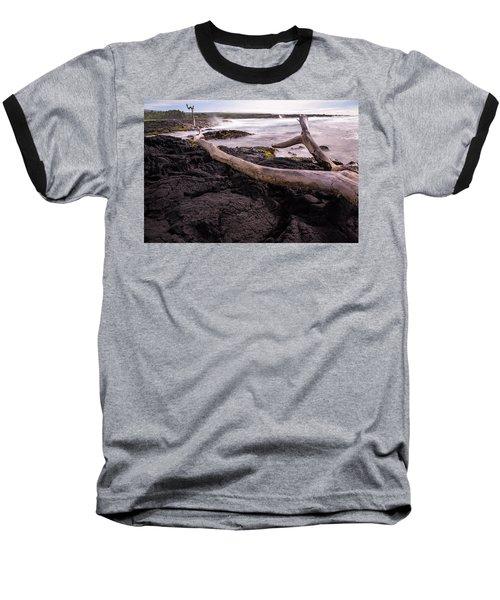 Fallen Tree At Punalu'u Beach Baseball T-Shirt