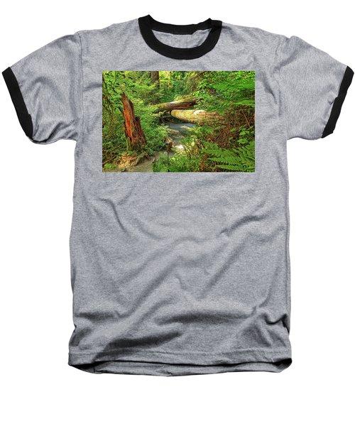 Fallen Trees In The Hoh Rain Forest Baseball T-Shirt