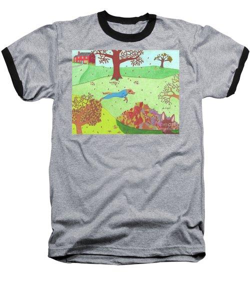 Falling Leaves Baseball T-Shirt
