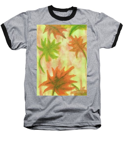 Fanciful Fall Leaves Baseball T-Shirt