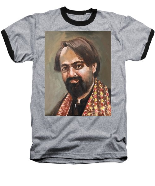 Baseball T-Shirt featuring the painting Farhan Shah by Nizar MacNojia